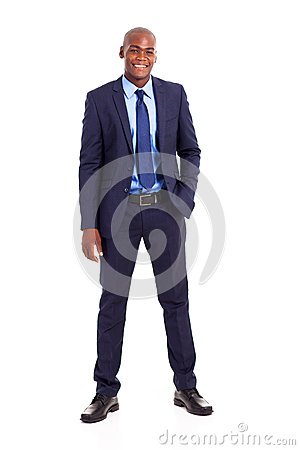 African businessman suit