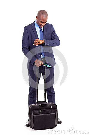 African businessman travel