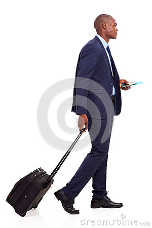 African businessman walking