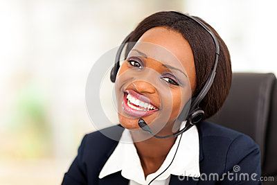 African call center operator