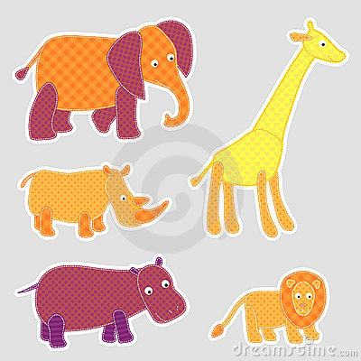 African cartoon animals