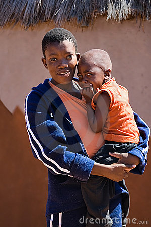 Free African Child And Mother Stock Image - 2033451