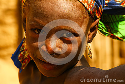 Happy African Child Editorial Stock Photo