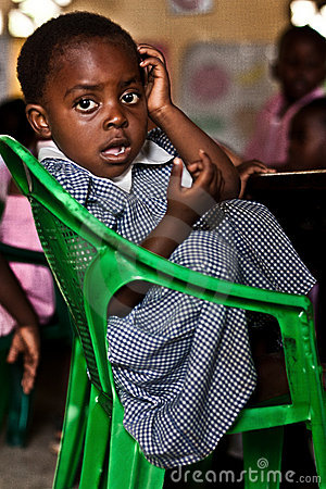 african child at school Editorial Stock Image
