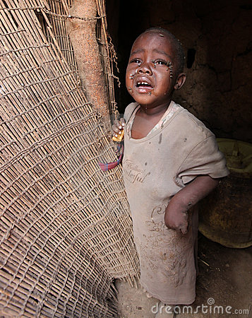 African child in slum Editorial Stock Photo