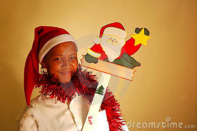 African christmas woman