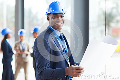 African construction engineer