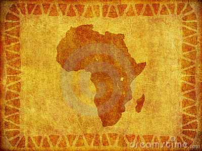 African Continent Grunge Background
