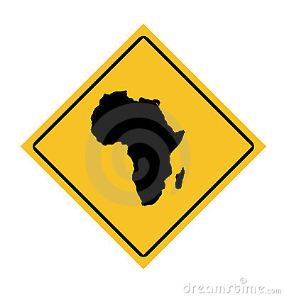 African continent road sign