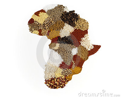 African Continent Spice Map