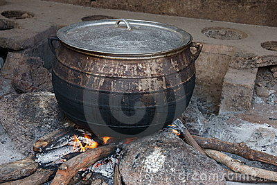 African Cooking Pot Royalty Free Stock Photography Image