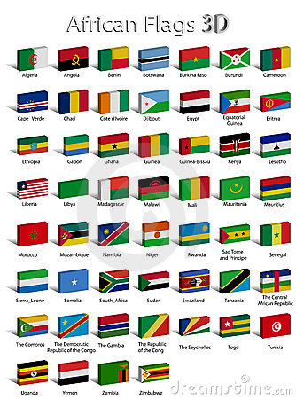 African countries 3D