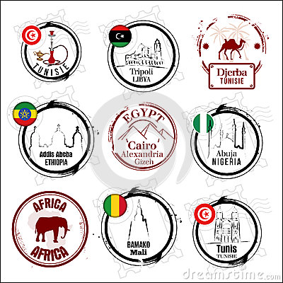 African country stamps