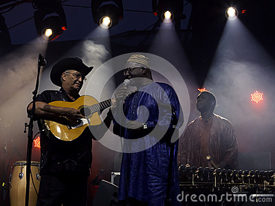The African-Cuban collaboration Afrocubism perform Editorial Stock Photo
