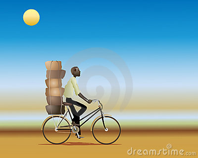 African cyclist