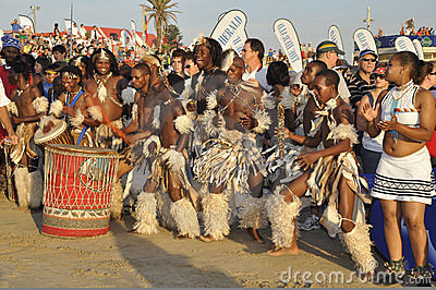 African dancers Editorial Stock Image