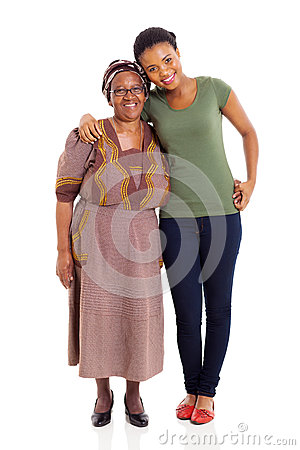 African daughter and senior mother