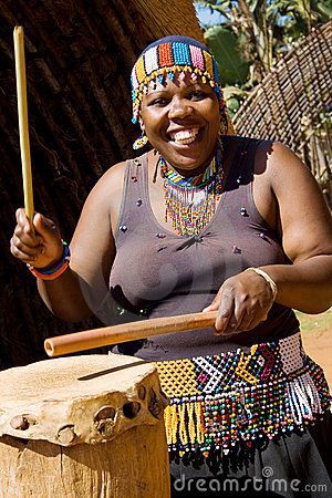 African drum player Editorial Photography