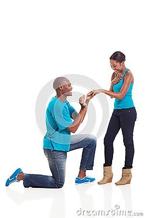 African engagement girlfriend