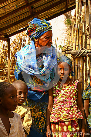 African Family Editorial Image