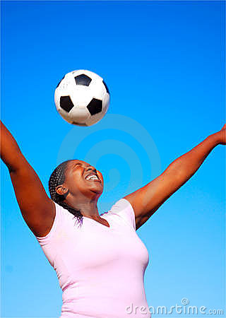 African female soccer player
