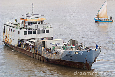 African ferry Mpfumu Editorial Image
