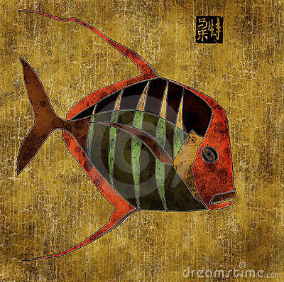 African  fish, collage