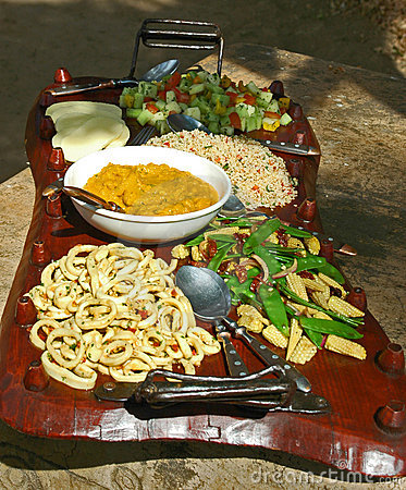 Free African Food Plate Royalty Free Stock Photography - 2442977