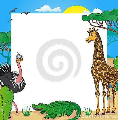 Free African Frame With Animals 01 Stock Image - 32968171