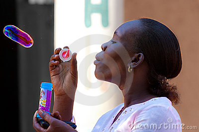 african girl,Bubbly woman Editorial Image