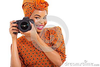 African girl camera