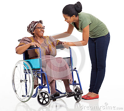 African girl disabled senior