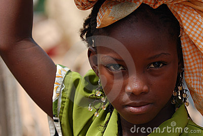 African girl with raised arm Editorial Photography