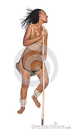 African girl warrior