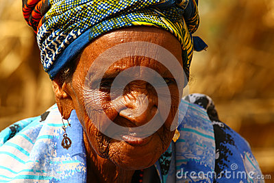 Old African Grandma Editorial Photography