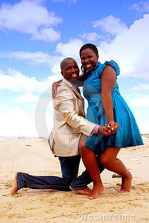 African happy couple
