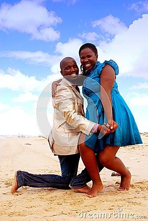 African happy couple