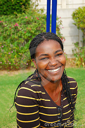 African happy smiling woman