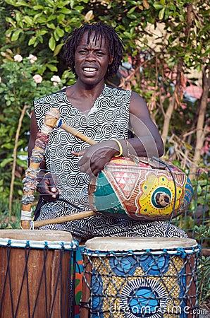 African Harpist