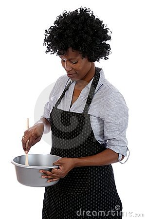 African Housewife Cooking