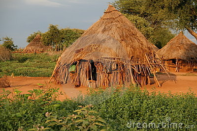 African hut in Ethiopia