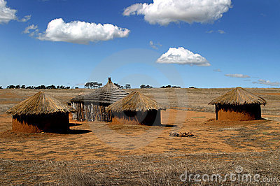 African huts