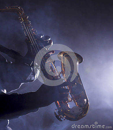 Free African Jazz Musician Playing The Saxophone Royalty Free Stock Photo - 75673945
