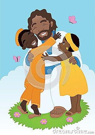 African Jesus with Children
