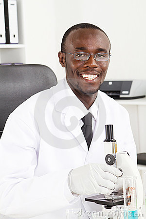 African lab technician