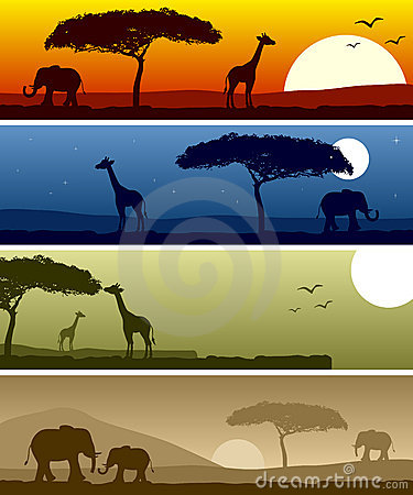 Free African Landscape Banners Stock Images - 16218484