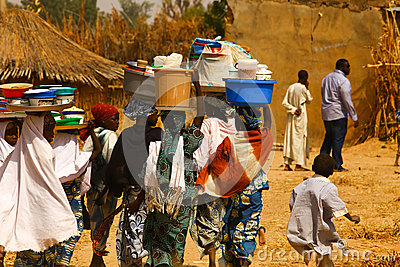 Africans Carrying Goods Editorial Image