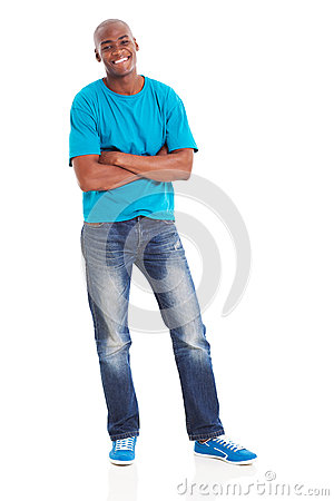 African man arms crossed