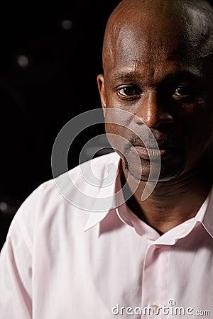 African man closeup