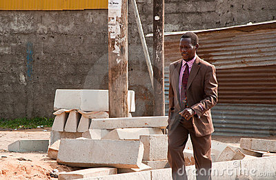 African man going to work Editorial Photography